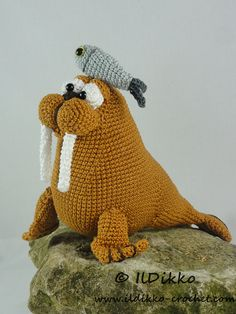 Amigurumi Crochet Pattern - Walter the Walrus  !!!This listing is for a crochet pattern and not a finished item!!!  Walter the Walrus:  The pattern is very detailed and contains a lot of pictures. This is an instant digital download PDF pattern (ready to download immediately after the payment).  More photos available on Facebook: https://www.facebook.com/IlDikko Or check out IlDikko website: http://ildikko-crochet.com  Finished size: Using the given yarn and hook size...