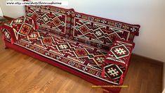 Red Arabic style majlis floor sofa set, floor seating sofa,bohemian furniture,living room sofa, floor couch, oriental floor seating,