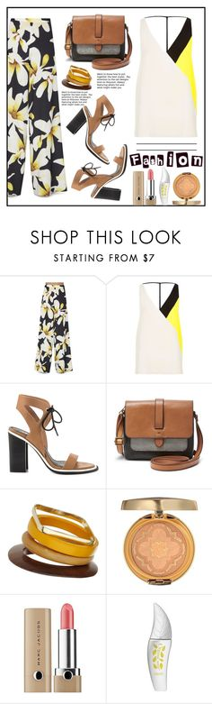 """Best day"" by gabrilungu ❤ liked on Polyvore featuring Alice + Olivia, River Island, Sol Sana, FOSSIL, Topshop, Physicians Formula and Marc Jacobs"
