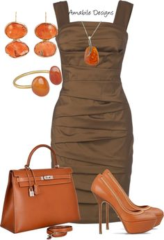 "LOVE this dress and want to be able to rock something similar by spring.  ""Fall Dinner"" by amabiledesigns on Polyvore"