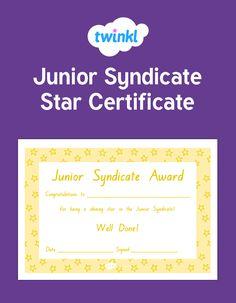 Classroom Organisation, Shining Star, Congratulations