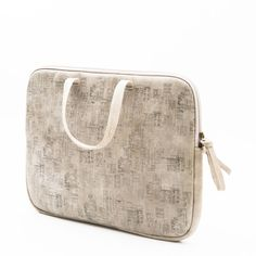 Printed Leather Laptop Case by Meckela
