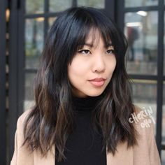 30 Modern Asian Hairstyles for Women and Girls Medium Layered Asian Haircut With Bangs Asian Hairstyles Women, Hairstyles With Bangs, Girl Hairstyles, Bangs Hairstyle, Japanese Hairstyles, Hairstyle Ideas, Medium Hair Cuts, Medium Hair Styles, Short Hair Styles