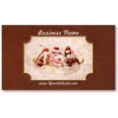 Sweet - Ice Cream - Banana split Business Card Templates by suburbanscenes