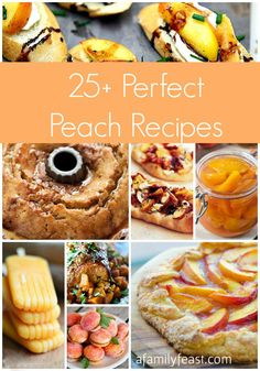 25-Plus Perfect Peach Recipes - A great collection of savory, sweet and beverage recipes all with peaches as the starring ingredient!