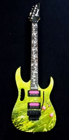 Ibanez Electric Guitar, GRG, Jem 777 style, RG Style, Swirl - Yellow/Black #Ibanez