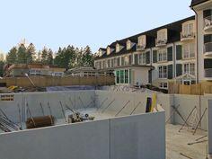 2009 - Anbau Poolhaus. Eine riesige Baustelle vor dem Hotel und der Hotelbetrieb läuft weiter.
