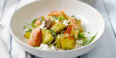 Lohi-perunasalaatti ja kermaviilikastike