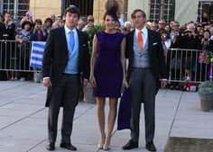 misshonoriaglossop:  Religious wedding of Prince Felix of Luxembourg and Claire Lademacher, now Princess Claire of Luxembourg, France, September 21, 2013-guests Prince Sébastien, brother of the groom, Princess Tessy and Prince Louis, brother of the groom,
