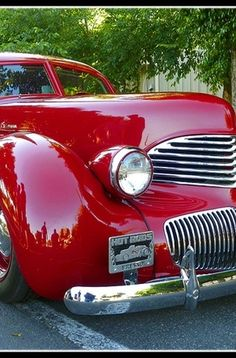 1941 Red Hupmobile Skylark, Very Rare Auto. Vintage Cars, Antique Cars, Vintage Stuff, Automobile, Pt Cruiser, Classy Cars, Concours D Elegance, Us Cars, Old Trucks