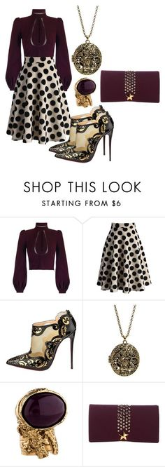 """Untitled #2691"" by pampire ❤ liked on Polyvore featuring Chicwish, Christian Louboutin, Yves Saint Laurent, La Fille Des Fleurs, women's clothing, women's fashion, women, female, woman and misses"
