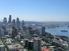 A view of Seattle's from the Space Needle!