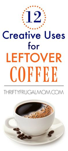 12 Inventive Makes use of for Leftover Espresso - Frugality - Coffee Recipes Coffee Uses, Great Coffee, Hot Coffee, Coffee Time, Frozen Coffee, Coffee Break, Coffee Tasting, Coffee Drinkers, Leftover Coffee Recipe