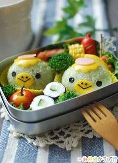 Japanese Bento Lunch Box, Bento Box Lunch, Lunch Boxes, Kawaii Bento, Cute Bento, Bento Ideas, Bento Recipes, Edible Crafts, Edible Art