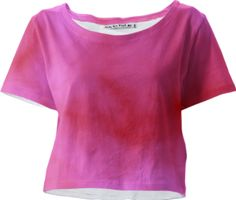 pink and red cloud art crop top / This Croptee is a custom Design Object, powered by PrintAllOver.Me