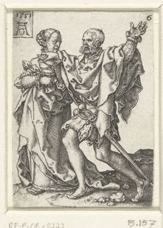 Dansend paar, Heinrich Aldegrever, 1551