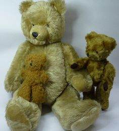 A Pedigree Teddy bear with rattle, a Dean's Childsplay Toy Teddy bear and one other Teddy bear with growler