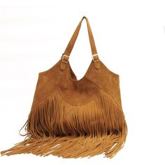Sabrina Tach Boho suede leather bag in tan (295 CAD) ❤ liked on Polyvore featuring bags, handbags, shoulder bags, purses, bolsas, accessories, boho purses, bohemian shoulder bag, hand bags and suede handbags