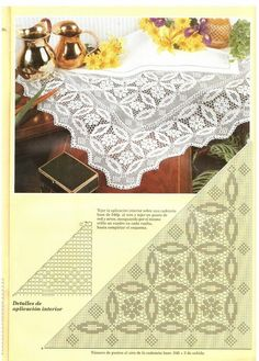 View album on Yandex. Crochet Doily Patterns, Crochet Borders, Crochet Motif, Crochet Designs, Crochet Doilies, Crochet Hooks, Embroidery Patterns, Knit Crochet, Crochet Diagram