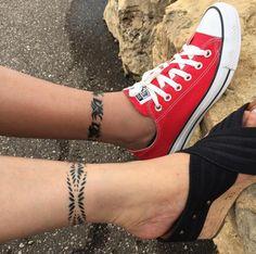 Anklet tattoos via Dharl Lozada Librea