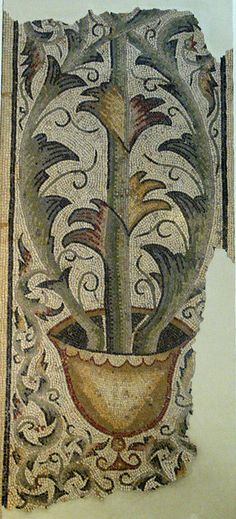 Roman Mosaic From Carthage  --  Depicting 'The Tree Of Life'  --  Belonging to The British Museum