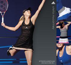 adidas by Stella McCartney apparel Wta Tennis, Tennis Gear, Tennis Clothes, Stella Maccartney, Stella Mccartney Tennis, Tennis Warehouse, Caroline Wozniacki, Sports Clubs, Tennis Players