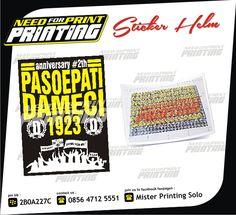 Mau Cetak Segala Macam Sticker ( Sticker Mobil, Striping Motor, Sticker Transparant, Sticker Cutting, Sticker Anti Air, Sticker Kaca, Sticker Kertas, Sticker Label, Sticker Segel, Sticker Helm, dll ) yang berkualitas, hanya di Mister Printing Solo Saja !!! Hp. 0856 4712 5551 / Bb. 2B0A227C.