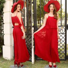 Summer Jumpsuit on SALE #womenjumpsuit #summerfashionstyle #womenfashion #lovered Summer Jumpsuit, Vintage Boutique, Jumpsuits For Women, Formal Dresses, Red, Outfits, Fashion, Summer Romper, Dresses For Formal