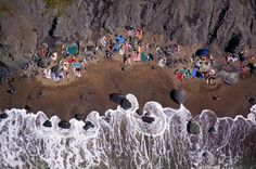 Gray Malin's photographs of beaches from above which he shoots from a doorless helicopter