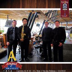 La banda musical de viernes y sábado en la noche en Angus Brangus Parrilla Bar  , es Fusión Tiempo.  Disfrute todo su repertorio con exquisita gastronomía.   Reservas: 2321632.  www.angusbrangus.com.co  Cra. 42 # 34 - 15 / Vía las Palmas    #AngusBrangus #RestaurantesMedellín #Medellín #Quehacerenmedellín #sitegustacompartelo #Poblado #PlanPerfecto #Colombia #Poblado #nochesenmedellín #restaurantesrecomendados #gastronomía #medellínsisabe #musicaenvivo