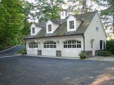 Within the past ten years that negative view of the garage has actually changed considerably. Climatizing the garage has become much more than an afterthought. Garage Guest House, Carriage House Garage, Barn Garage, Garage Doors, Dream Garage, Garage Cabinets, Diy Garage, Garage Workshop, 3 Car Garage