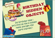 #HiddenObjects - Free games for kids such as Hidden Objects is exactly what the title suggests. Find the hidden objects from a table full of goodies. For more interacting #game for #kids, visit: http://mocomi.com/fun/games/