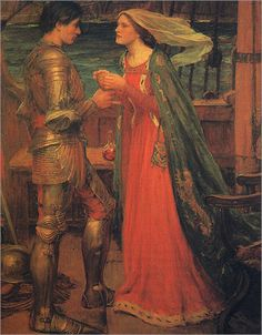Tristram and Isolde'  by John William Waterhouse