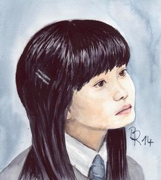 Cho Chang by LoonaLucy on DeviantArt Pastel Pencils, Coloured Pencils, Katie Leung, Painted Fan, Cho Chang, Watercolor Portraits, Watercolour Painting, Harry Potter Fan Art, Mischief Managed