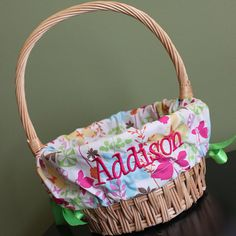 Personalized / Monogrammed Easter Basket Liner