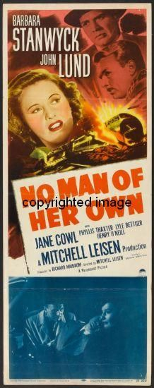 No Man Of Her Own Movie Poster Insert 14x36