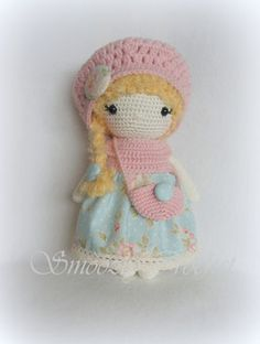༺༺༺♥Elles♥Heart♥Loves♥༺༺༺ ........♥Crochet Amigurumi♥........ #Amigurumi #Patterns #Crochet #Softies #Childrens #Toys #Handmade #Teddy #Doll #Tutorial #Patterns #Collectable~ ♥Design By Smoozly Crochet Amigurumi Lena