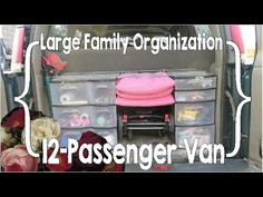 ideas for big family cars road trips Large Family Organization, Family Organizer, Minivan Organization, 12 Passenger Van, Diy Seat Covers, Big Van, Best Cars For Teens, Ford Transit, Family Cars