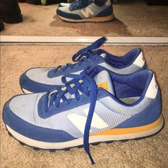 New balance 501 shoes!  Casual. Obvious signs of wear and small stains shown in pictures however still have a lot of wear left. Make me offers  New Balance Shoes Sneakers