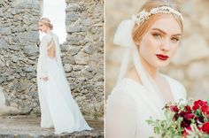 Old world bride. Amalfi coast wedding inspiration.