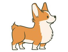 starfishey:  So due to popular demand I decided to make a cleaned up version of my old corgi doodle.