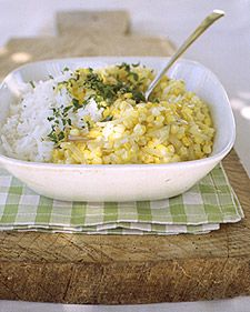 Summer corn and rice pilaf. Mmm, starch with starch. That wasn't meant to be snarky, by the way. ;) Love, love doubly-starchy dishes.