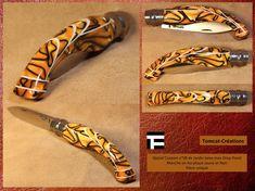 Opinel custom 08 de Jardin lame inox Manche en Acrylique Jaune et Noir | eBay