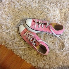 Pink low top converse 💕 NEED TO GO ASAP Pink low top converse in great condition! Price is for a limited time only. No trades please! Thank you and feel free to leave a offer!  Thanks Converse Shoes Sneakers
