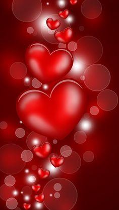 Floating hearts Holiday desktop wallpaper, Heart wallpaper, Valentine's Day wallpaper, Love wallpaper - Holidays no. Red Wallpaper, Wallpaper For Your Phone, Heart Wallpaper, Cellphone Wallpaper, Wallpaper Backgrounds, Iphone Wallpaper, Heart Pictures, Heart Images, Love Images