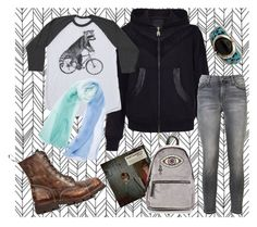 """""""Everyday walk with The Drums"""" by willoz on Polyvore featuring mode, Portamento, Pritch London, Current/Elliott, New Look, casual, music, raccoon et thedrums"""