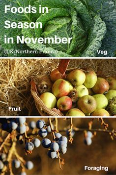 A Green and Rosie Life: Veg, Fruit and Foraged Foods in Season in November
