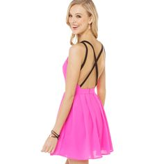 Aliexpress.com : Buy Drop Saling Cross hit back before the black color strap pleated V neck pink dress lined Free shipping WC093B032 from Reliable dress strapless suppliers on Queen Spring