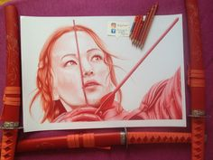 Katniss Everdeen ( Red pencil ) by BufneaBogdan.deviantart.com on @DeviantArt