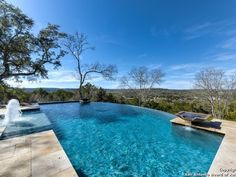 In NO GOOD DEED, the villain has a very nice, though modest, house in NW San Antonio ... with an infinity pool and a view like this.